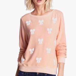 Wildfox Baby Bow Baggy Beach Jumper